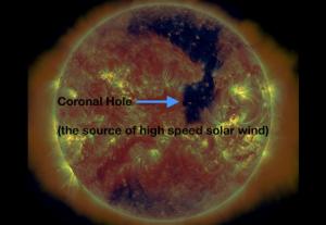 Coronal hole... hmmm...
