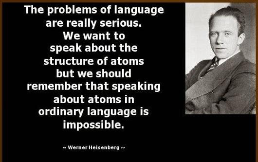 Werner Heisenberg - on Language of Mathematics
